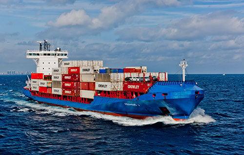 Transporte Marítimo Crowley entre Estados Unidos y Centroamérica